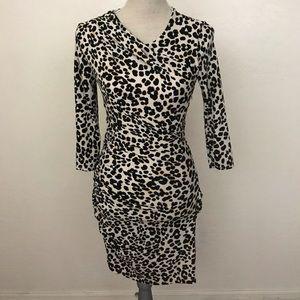juicy couture Animal Print 3/4 Sleeve Dress